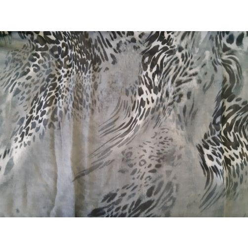Leopard abstract animal print infinity snood fashion scarf charcoal