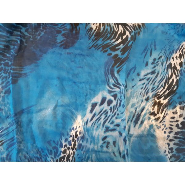Leopard abstract animal print infinity snood fashion scarf blue