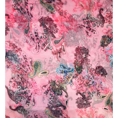 Paisley and Flowers - Pink