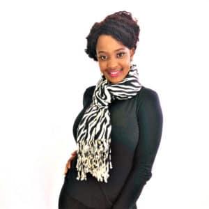 Zebra stripes animal print Viscose pashmina shawl wrap scarf black and white